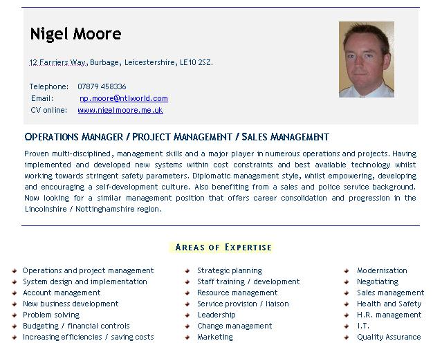 Management CV examples - click here to download CV templates