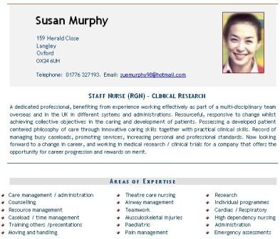 Nursing Cv Example Nurses Doctors Curriculum Vitae Cv Service